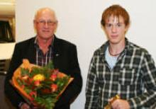 Tore Johnsson och sonen Robin fick en minnesvärd dag i Stockholm.