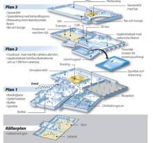 Grafik över de fyra våningsplanen.