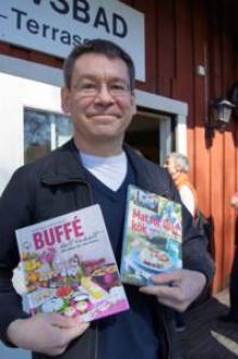 Kokboksförfattaren Jon Hanson var också på plats på Gålö.