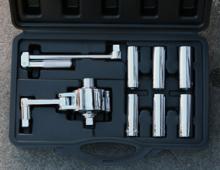 AutoGear mutterlossare kommer i en praktisk väska.