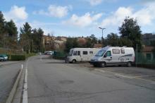 Inoffciell ställplats nära stadens centrum i San Gimignano som annars är rätt hopplös för oss husbilsfolk.