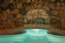 Campinplatsens spa-anläggning är suverän. Kostar 15 euro extra per person när man campar här.
