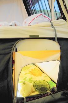Sovrummet under dubbelsängen är riktigt mysigt för barnen och deras kompisar.