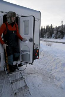 Trots minus 29 grader var det hela tiden jämnvarmt. Gasolförbrukningen var minimal under testdygnen.