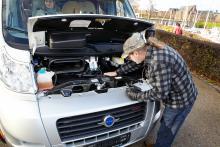 Alla vitala delar i motorutrymmet går att nå, till skilllnad från i många helintegrerade husbilar.