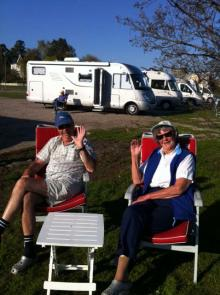 Sören och Yvonne Hansing Hedin stod uppställda med sin TEC-bil på Trosa ställplats.