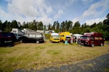 Norrmän och danskar hade sin egen plats på campingen.
