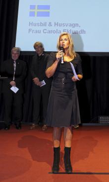 Inför drygt 220 branschprofiler presenterade Carola Eklundh några av de nominerade kandidaterna