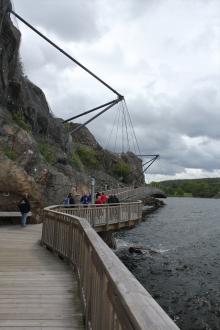 Trevlig strandpromenad i Uddevala