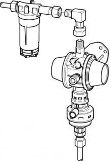 Så ser Trumas nya gasfiltret ut monterat på gastrycksregulatorn.