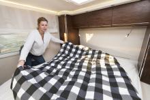 Sovrummet skulle kunna konkurrera med många hotellsviter.