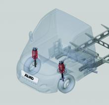 Många husbilar är tunga framtill och då särskilt helintegrerade husbilar. Att uppdatera fjädrar och dämpare kan ge bättre vägegenskaper och komfort.