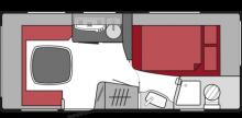 Planlösning Tabbert 460 TD