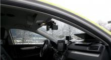 Så här ser ANPR ut monterad i polisens VW Passat.