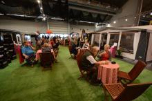 Marknadsledaren inom husvagnsbranchen, Hobby, bjöd in sina besökare till kaffeserveringen.