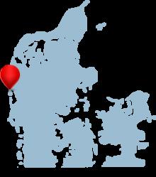 Søndervig ligger på danska västkusten
