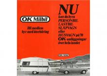 Att hyra husvagnen OK kostade 80 kr/dygn