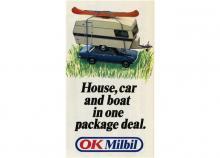 OK Milbil och semesterpaketet med allt som behövdes.