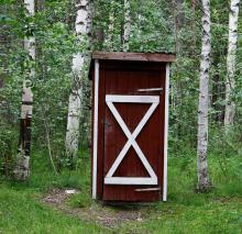 Enkelt dass för den nödställde vid Ramselesjöns naturrastplats.