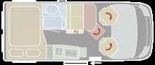 Van-Tourer med fyra sovplatser på 5,4 meter