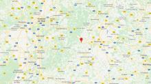 """Här hittar du det uppochner-vända huset. GPS: N49°46'18"""", E9°35'13"""""""