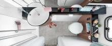 Nya Hobby Prestige 720 WLC har badrummet längst bak.