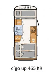 Premiär för Dethleffs c ́go up med nedfällbar säng
