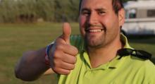 Kristian Marin Johansson är en av drivkrafterna på ställplatsen.