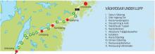 Testrutten mellan Stockholm och Jönköping.