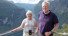 Barbro och Stefan Schön från Märsta reser med husbil och har Husbil & Husvagn som resguide.