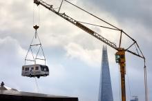 Högflygande camping väcker Londobors förundran