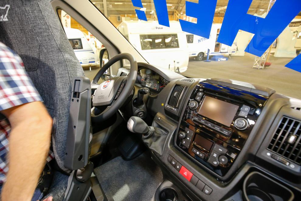 Grizzly är som de flesta husbilar baserade på Fiat Ducato.