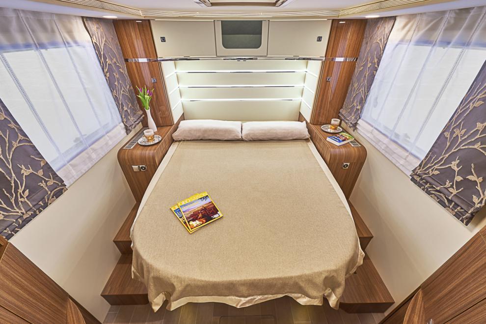Sovrummet i Integra i 890 QB ska ge känslan av ett coolt hotell i New York.