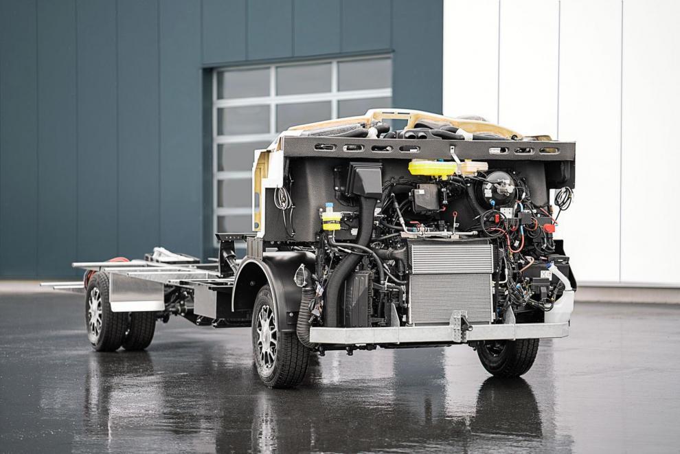 Under all lyx finns en motor och ett chassi från Iveco. (Foto Morelo)