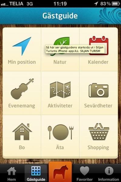 Turistapplikationer för Android och iPhone