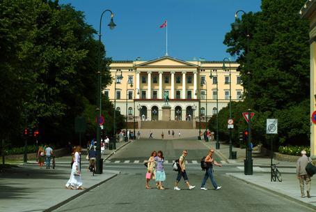 Kartan som visar Oslo till fots
