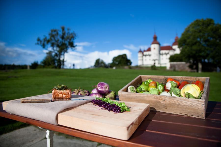 Matmarknad på Läckö Slott