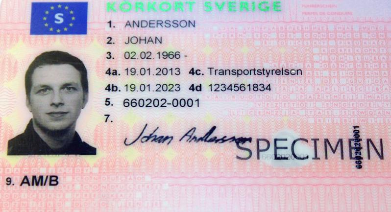 Nytt utseende på körkortet