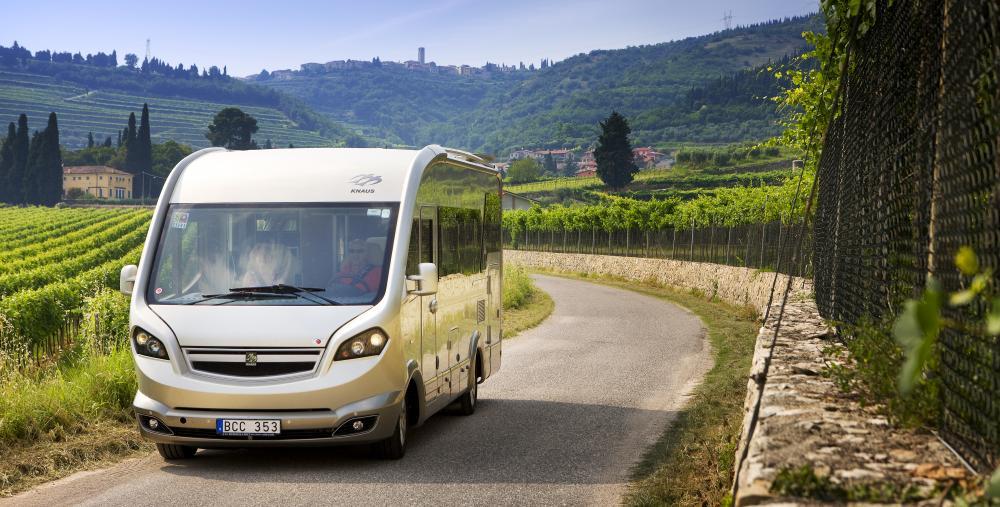 Italienska vingårdar med husbilen