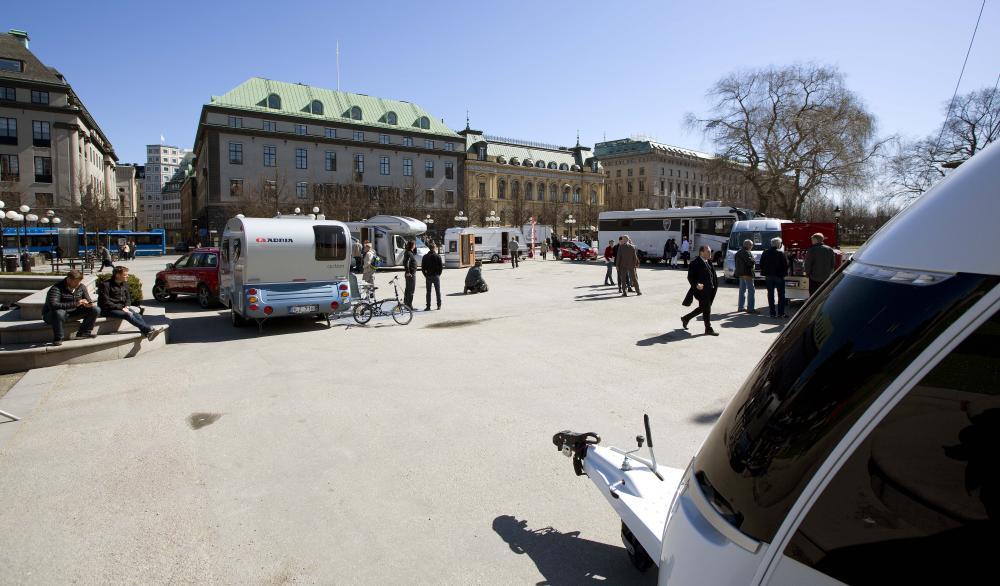 Fritidsfordon visades i Kungsträdgården