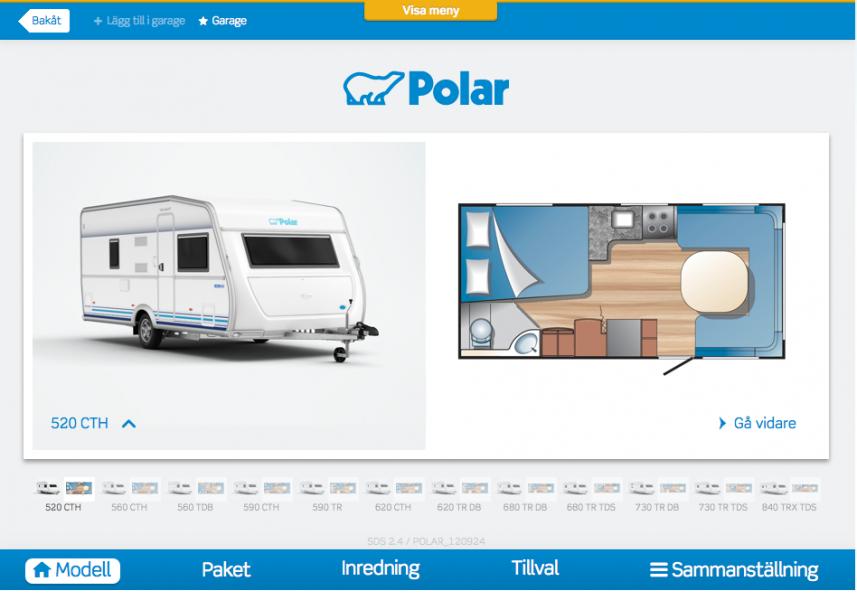 Husvagnskonfigurator nu på iPad