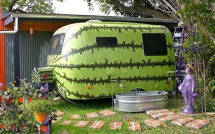 En äkta Halloween-husvagn!