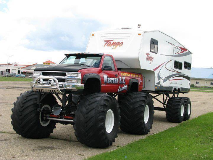 Monstruös husvagn