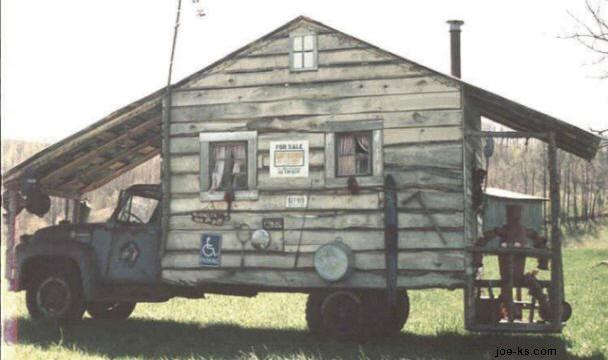 Husbil på tvären