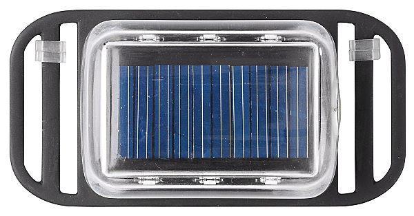 Solcellslampa för spännband