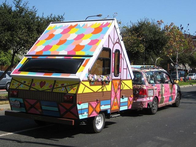 En glad husvagn