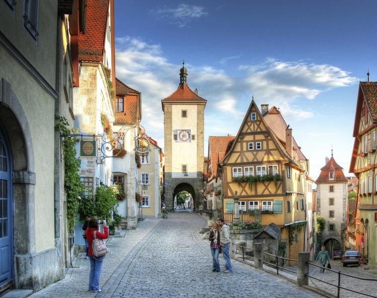 Så här ser det ut i Rothenburg o.d.T. Enligt många den mest tyska av alla tyska städer.