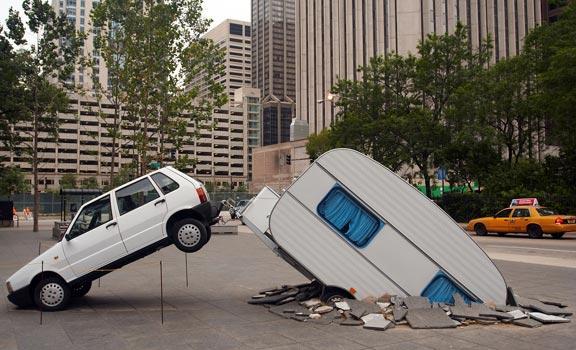 Husvagnar dyker upp ur intet