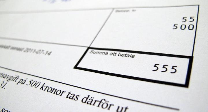Här var det trängselskatt på 55 kronor och påminnelseavgift på 500!