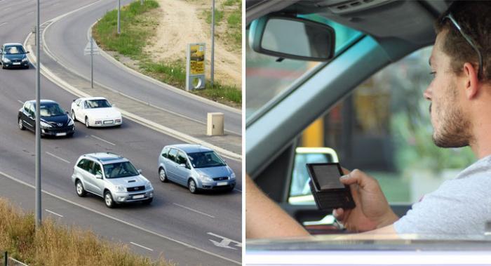 En av tre unga kör med SMS